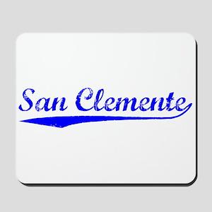 Vintage San Clemente (Blue) Mousepad
