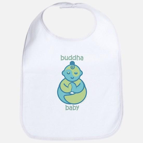 Happy Buddha Baby : Blue & Green Bib