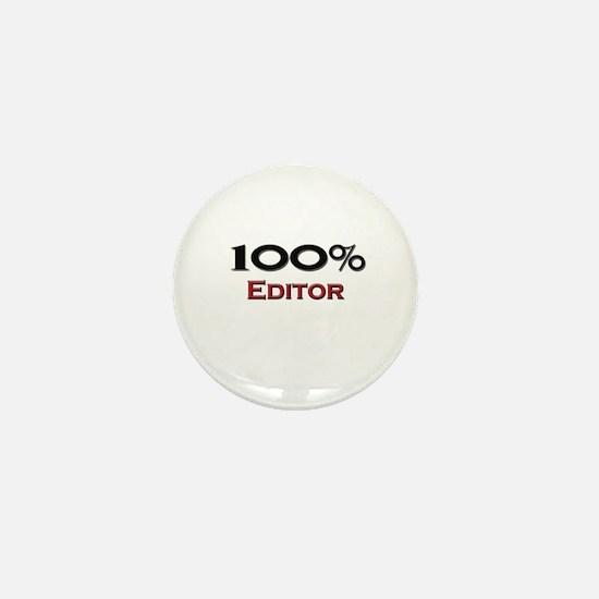 100 Percent Editor Mini Button