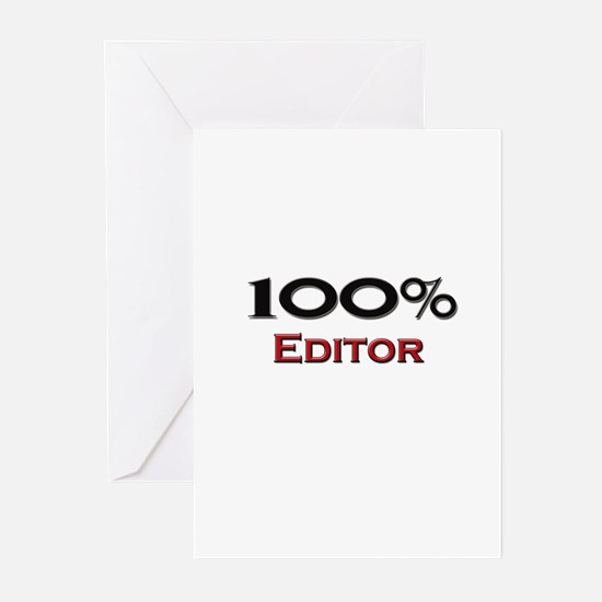 100 Percent Editor Greeting Cards (Pk of 10)