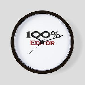 100 Percent Editor Wall Clock