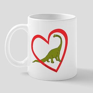 Heart Apatosaurus Mug