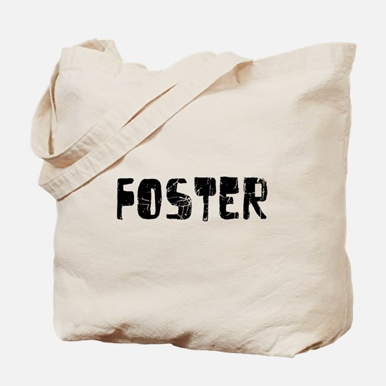 Foster Faded (Black) Tote Bag