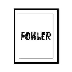 Fowler Faded (Black) Framed Panel Print