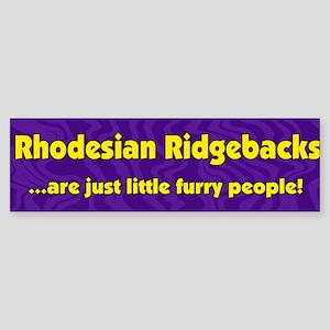 Furry People Rhodesian Ridgeback Bumper Sticker