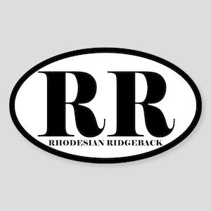 RR Abbreviation Rhodesian Ridgeback Sticker