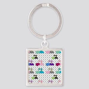 Colorful Sewing Machines Keychains