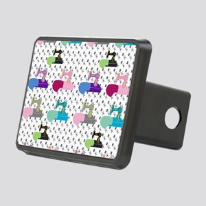 Colorful Sewing Machines Rectangular Hitch Cover