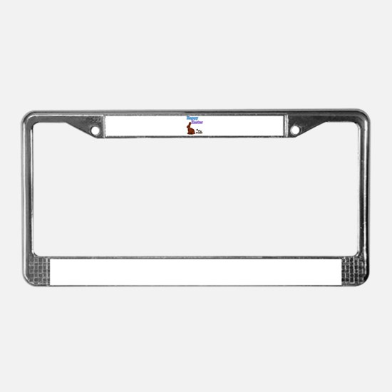 Happy Easter Chocolate Bunny License Plate Frame