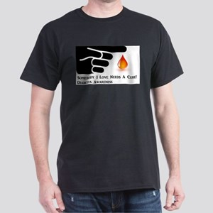 Diabetes Support Dark T-Shirt