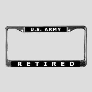 U.S. Army Retired License Plate Frame