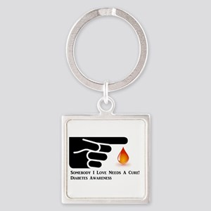 Diabetes Support Square Keychain