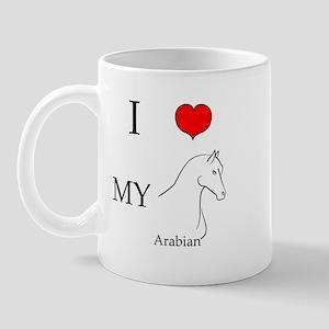 I Love My Arabian Horse Mug