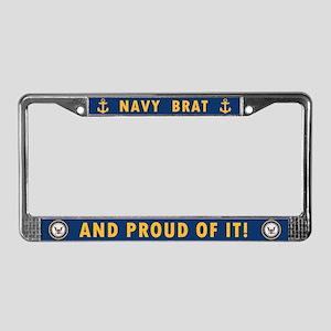 U.S. Navy Brat License Plate Frame