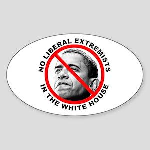 Anti-Obama Anti-Liberal Oval Sticker
