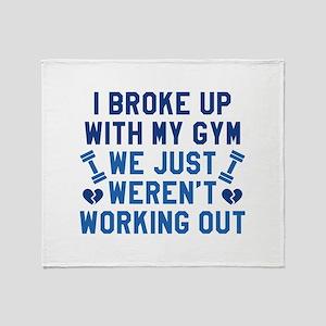 I Broke Up With My Gym Stadium Blanket