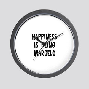 Happiness is being Marcelo Wall Clock