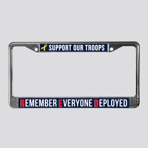 Support Our Troops Remember Ev License Plate Frame