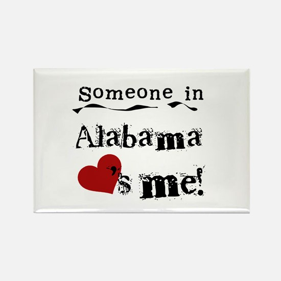Someone in Alabama Rectangle Magnet