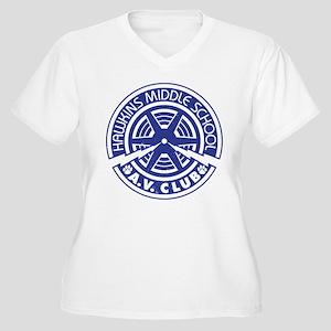 Hawkins Middle AV Women's Plus Size V-Neck T-Shirt