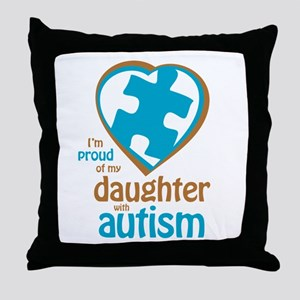 Proud of Daughter (4BB) Throw Pillow