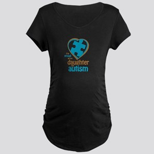 Proud of Daughter (4BB) Maternity Dark T-Shirt