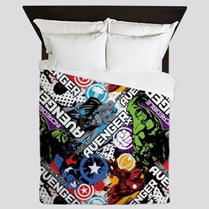 The Avengers Collage Queen Duvet