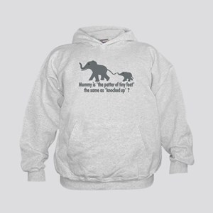 Cartoon Elephants funny Kids Hoodie