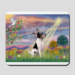 Cloud Angel & Toy Fox Terrier Mousepad