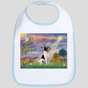 Cloud Angel & Toy Fox Terrier Bib