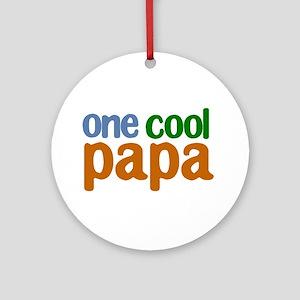 one cool papa grandpa t-shirts Ornament (Round)