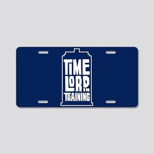 Time Lord In Training Aluminum License Plate