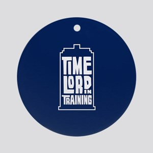 Time Lord In Training Round Ornament