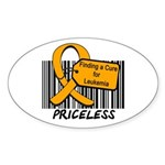 Leukemia Cure Priceless Oval Sticker (10 pk)