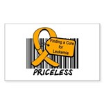 Leukemia Cure Priceless Rectangle Sticker 10 pk)