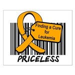Leukemia Cure Priceless Small Poster