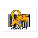 Leukemia Cure Priceless Postcards (Package of 8)