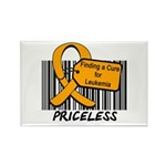 Leukemia Cure Priceless Rectangle Magnet (10 pack)