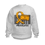 Leukemia Cure Priceless Kids Sweatshirt