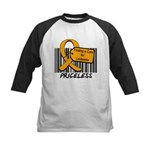 Leukemia Cure Priceless Kids Baseball Jersey