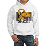 Leukemia Cure Priceless Hooded Sweatshirt