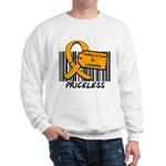 Leukemia Cure Priceless Sweatshirt