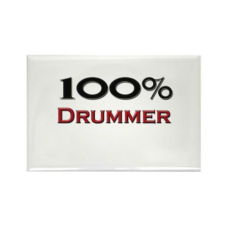 100 Percent Drummer Rectangle Magnet (10 pack)
