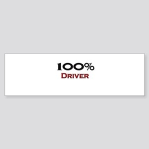 100 Percent Driver Bumper Sticker