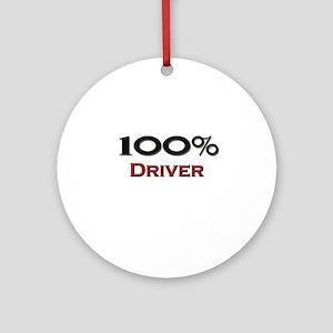100 Percent Driver Ornament (Round)