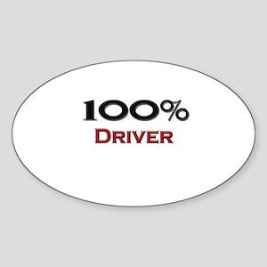 100 Percent Driver Oval Sticker
