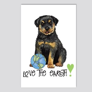 Earth Day Rottie Postcards (Package of 8)
