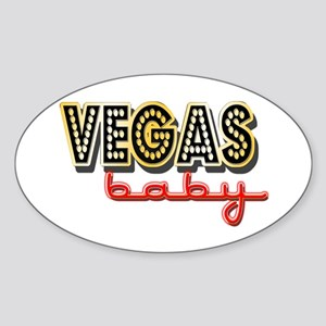 Vegas Baby Sticker (Oval)