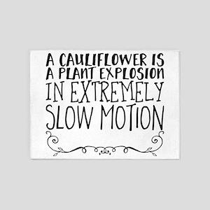 A cauliflower is a plant explosion 5'x7'Area Rug