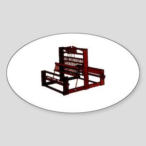 Yarn Crafts - Weaving Loom Oval Sticker